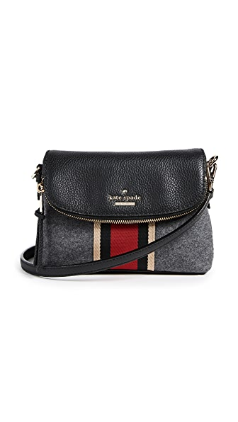 Kate Spade New York Jackson Street Small Harlyn Cross Body Bag In Charcoal