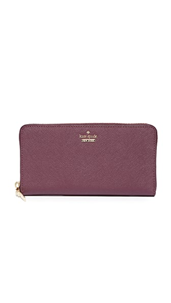 Kate Spade New York Cameron Street Lacey Zip Around Wallet In Deep Plum