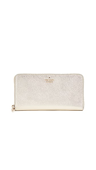 Kate Spade New York Cameron Street Lacey Zip Around Wallet In Gold