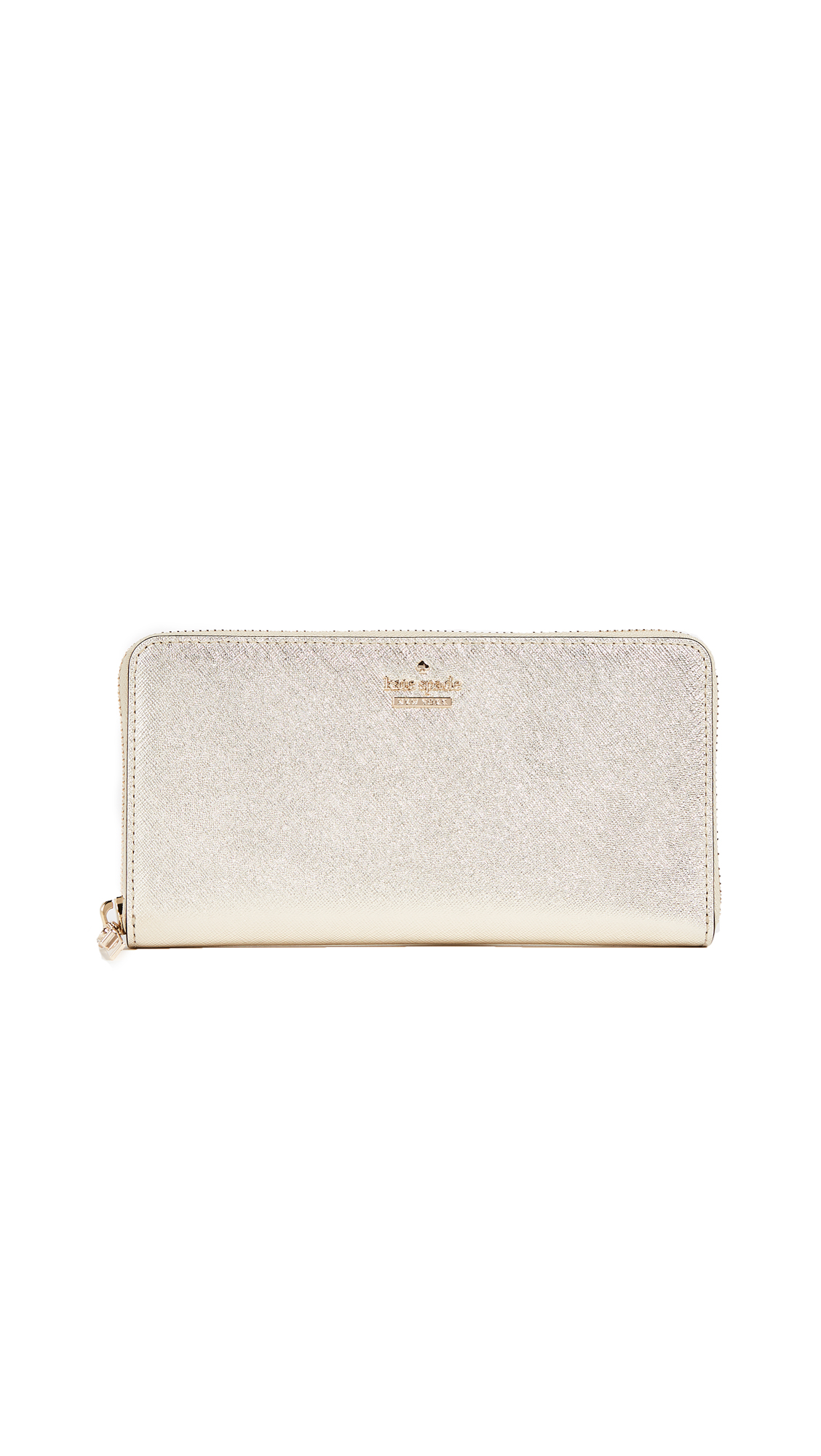 Kate Spade New York Cameron Street Lacey Zip Around Wallet - Gold