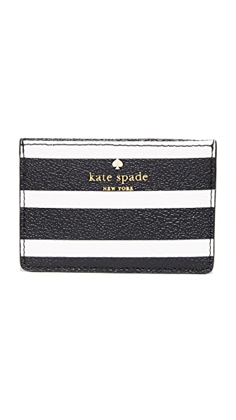 Kate Spade New York Hyde Lane Stripe Card Holder