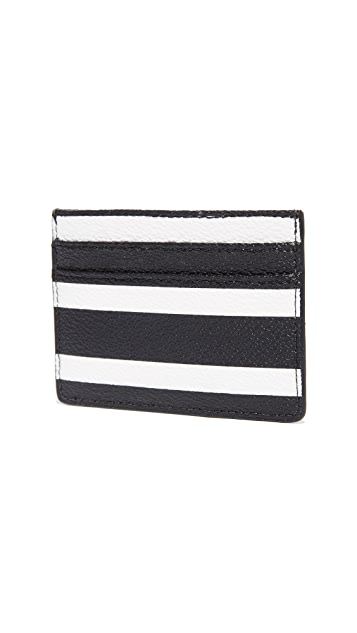 Kate Spade New York Hyde Lane Stripe Card Holder