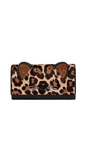 Kate Spade New York Leopard Dagney Wallet In Multi