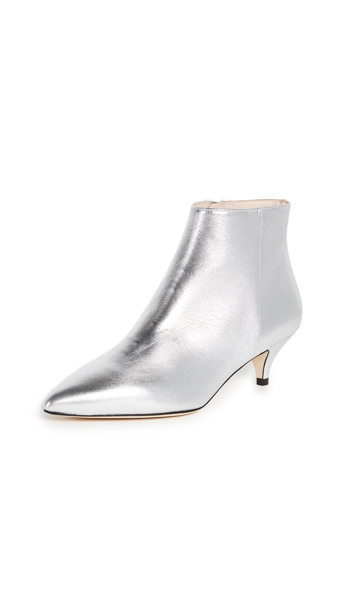 Kate Spade New York Olly Kitten Heel Ankle Booties - Silver