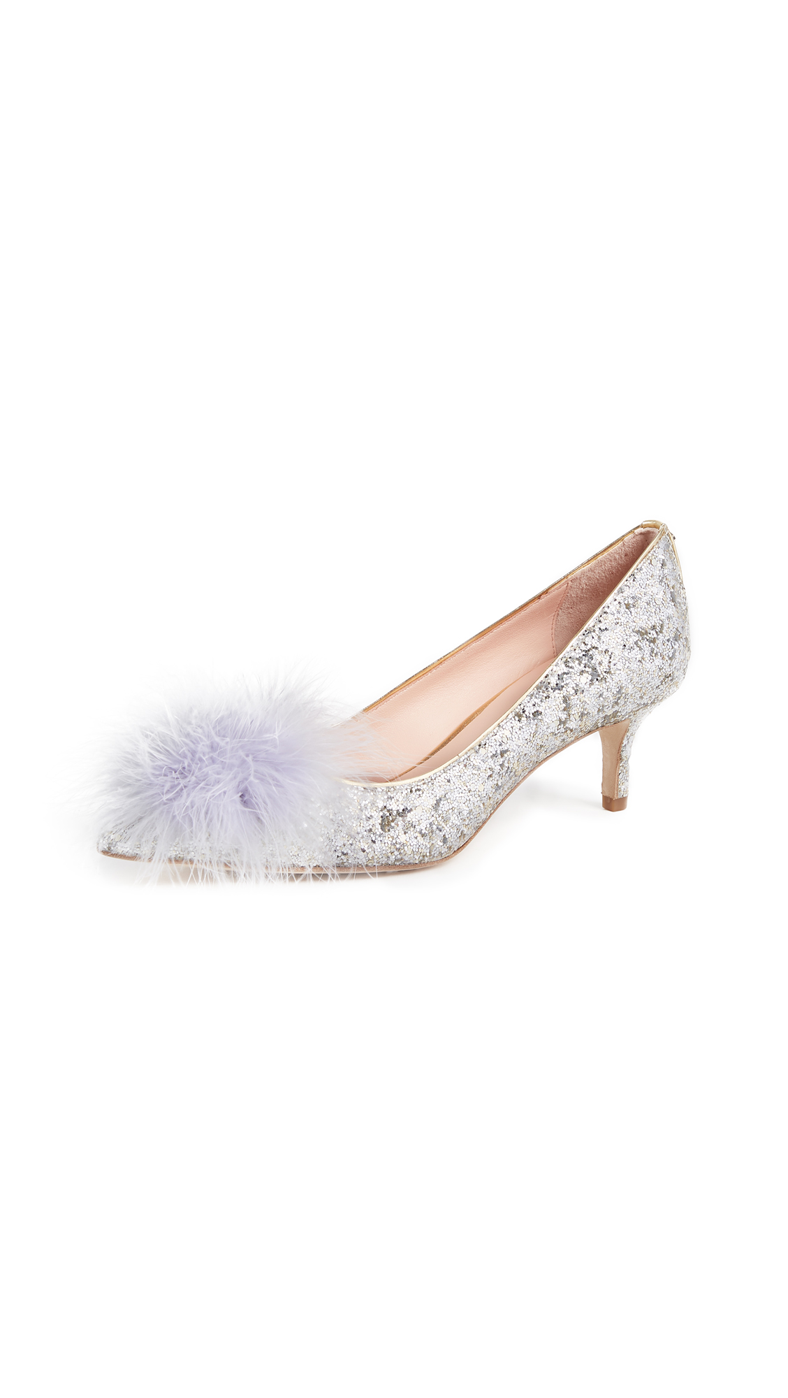 Kate Spade New York Park Pom Pom Pumps - Silver/Gold