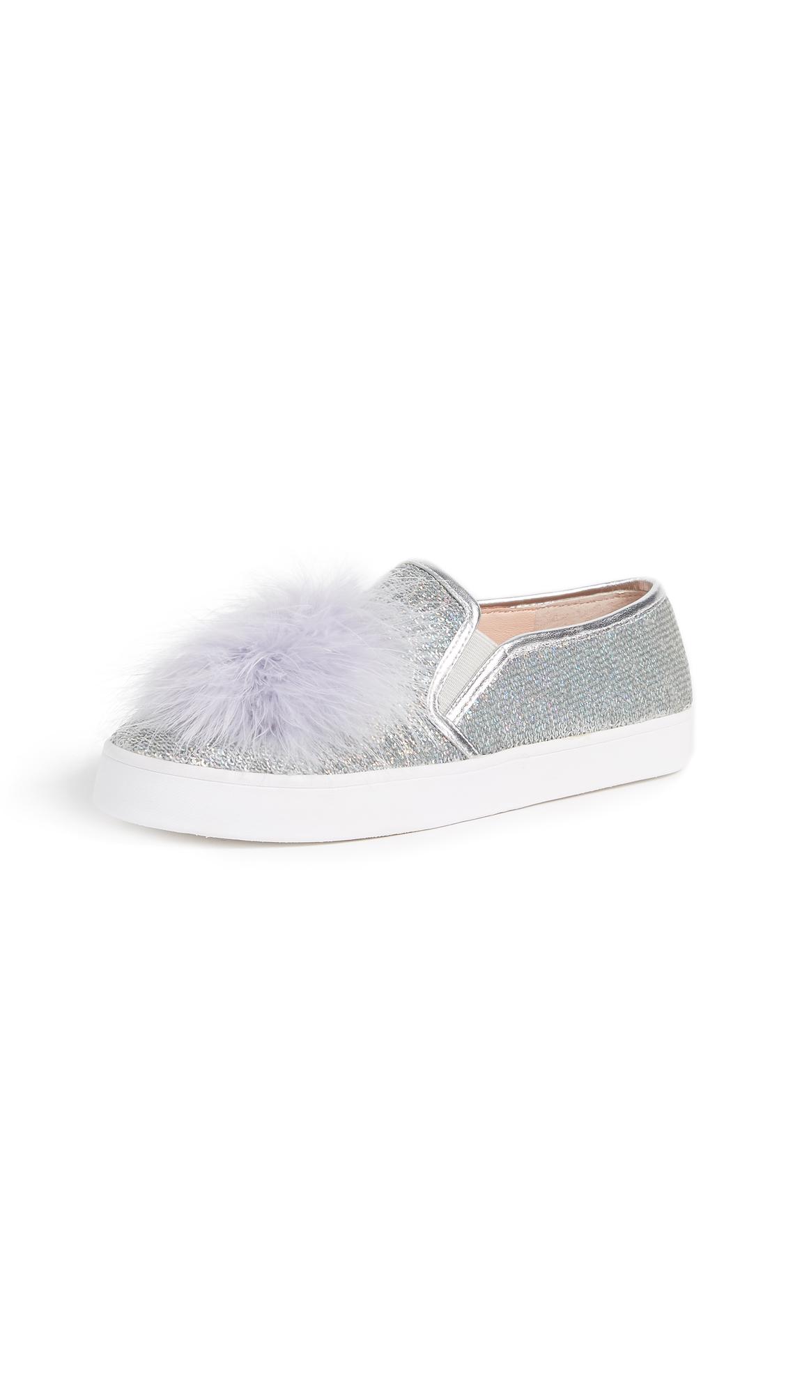 Kate Spade New York Latisa Pom Pom Sneakers - Silver