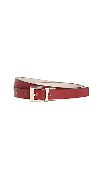 Kate Spade New York Smooth Leather Reversible Belt In Au Natural/Cinnabar