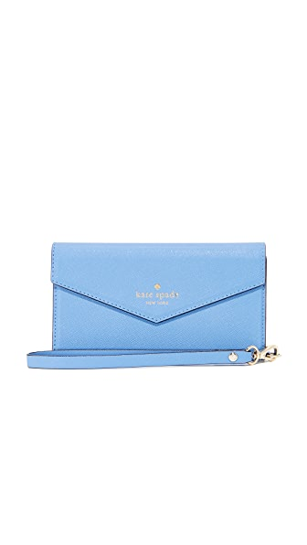 Kate Spade New York Envelope iPhone 7 Wristlet - Tile Blue
