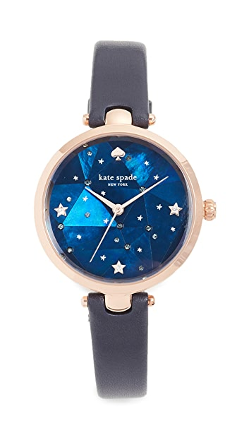 Kate Spade New York Holland Watch, 34mm In Rose Gold/Navy