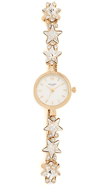 Kate Spade New York Crystal Star Bracelet Watch, 21mm In Gold/Clear