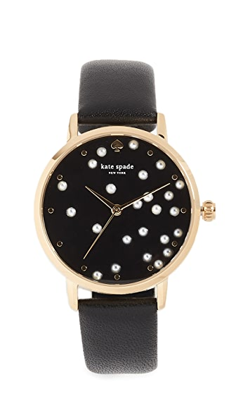 Kate Spade New York Metro Watch, 34mm In Gold/Black