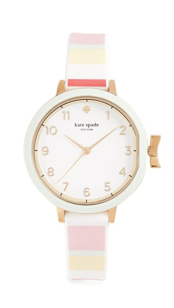 Kate Spade New York Park Row Striped Watch, 34mm