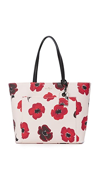 Kate Spade New York Hyde Lane Poppies Riley Tote - Rose Dew Multi
