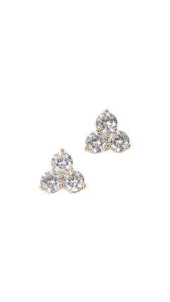 Kate Spade New York Flying Colors Trio Stud Earrings In Clear