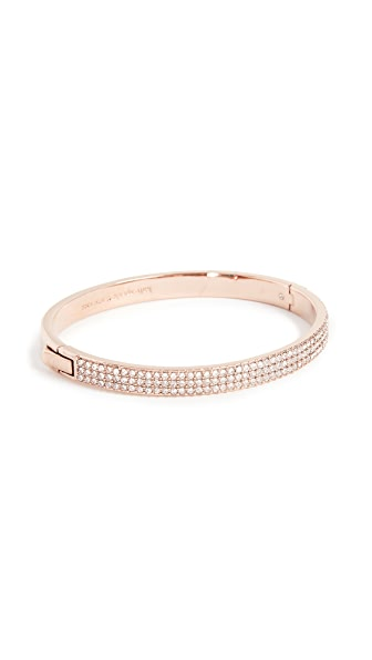 Kate Spade New York Heavy Metals Pave Row Bangle Bracelet In Clear/Rose Gold