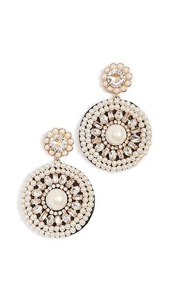Kate Spade New York Luminous Leather Statement Earrings In Cream Multi