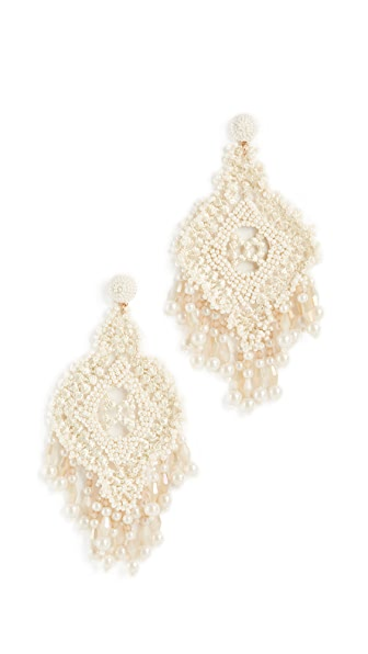 Kate Spade New York Lace Statement Earrings In White Multi