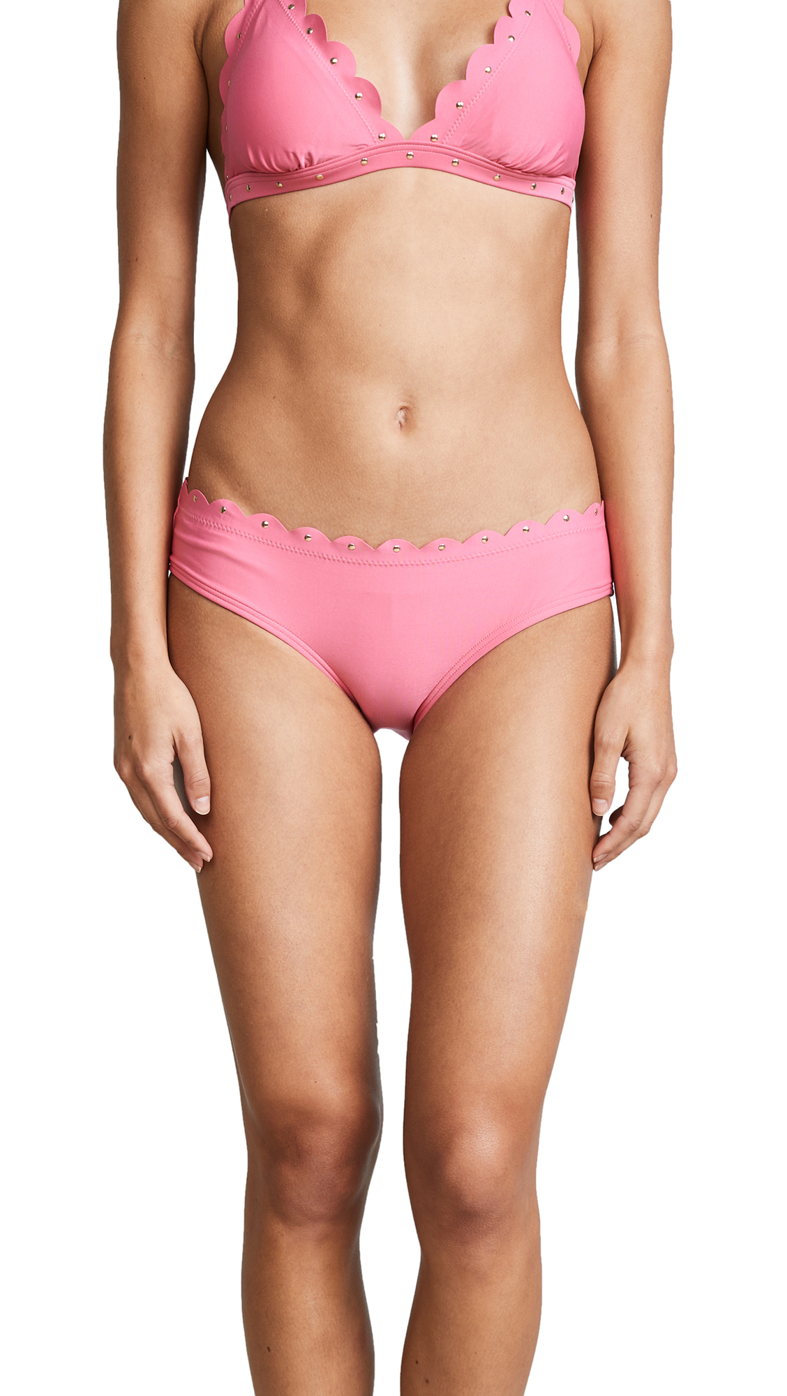 Kate Spade New York Morro Bay Scalloped Hipster Bikini Bottoms
