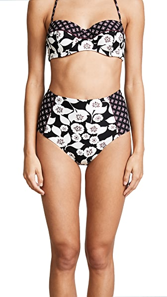 Kate Spade New York Aliso Beach High Waist Bikini Bottoms In Black