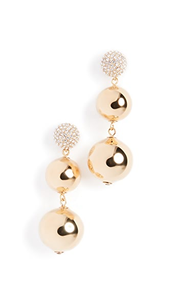 Kate Spade New York Pave Bauble Earrings In Clear/Gold