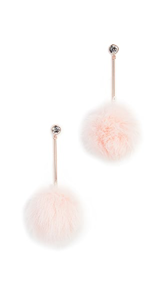 Kate Spade New York Bow Pouf Earrings In Blush Multi