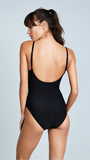 Kate Spade New York Crescent Bay One Piece with Bow Hardware