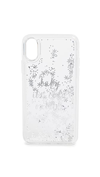 Kate Spade New York Baby It's Cold Outside iPhone X Case In Clear Multi
