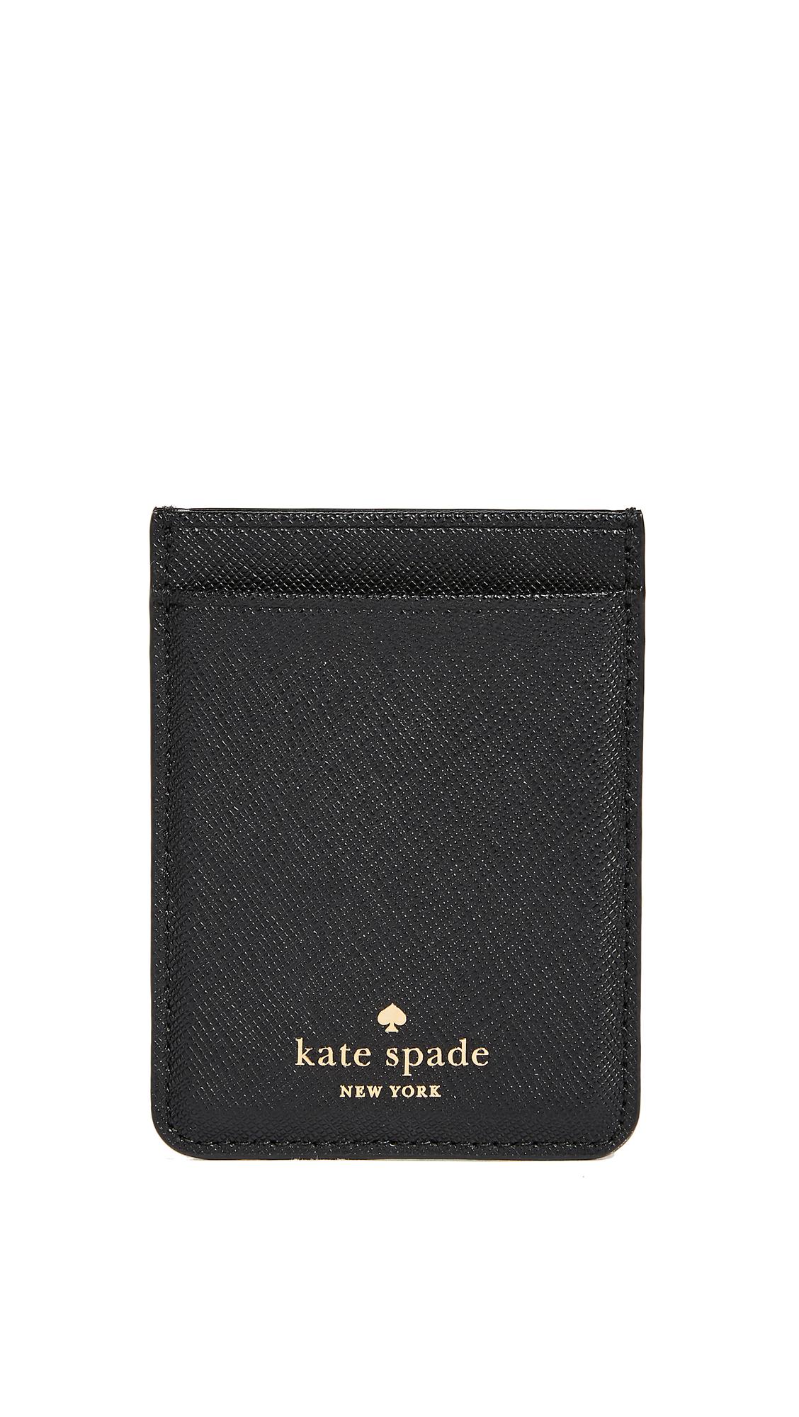 Kate Spade New York Double Sticker Phone Pocket - Black