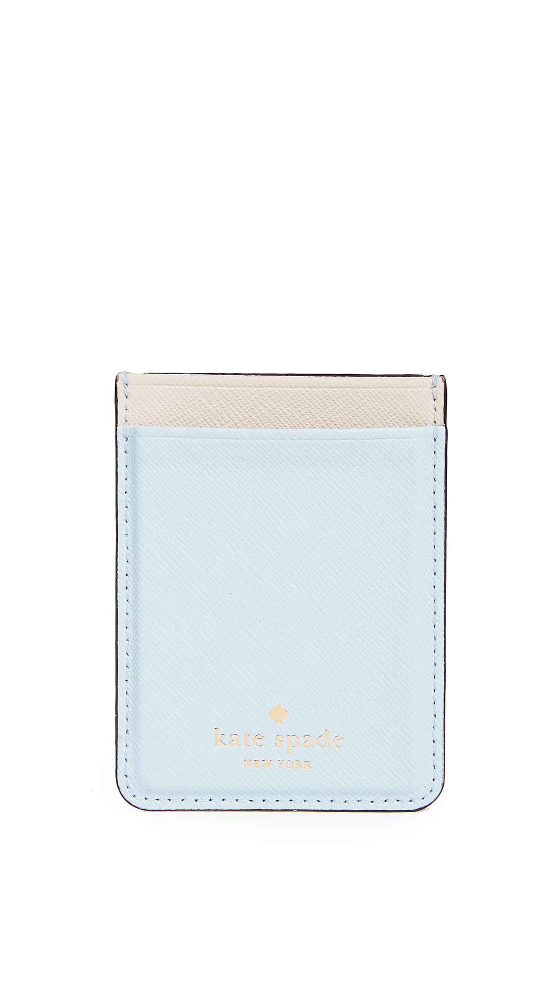 Kate Spade New York Double Sticker Phone Pocket - Shimmer Blue/Tusk