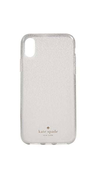 Kate Spade New York Glitter Ombre IPhone X Case In White
