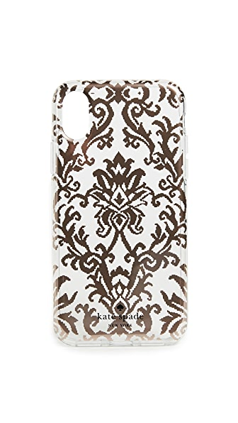Kate Spade New York Rose Gold Tapestry iPhone X Case In Rose Gold