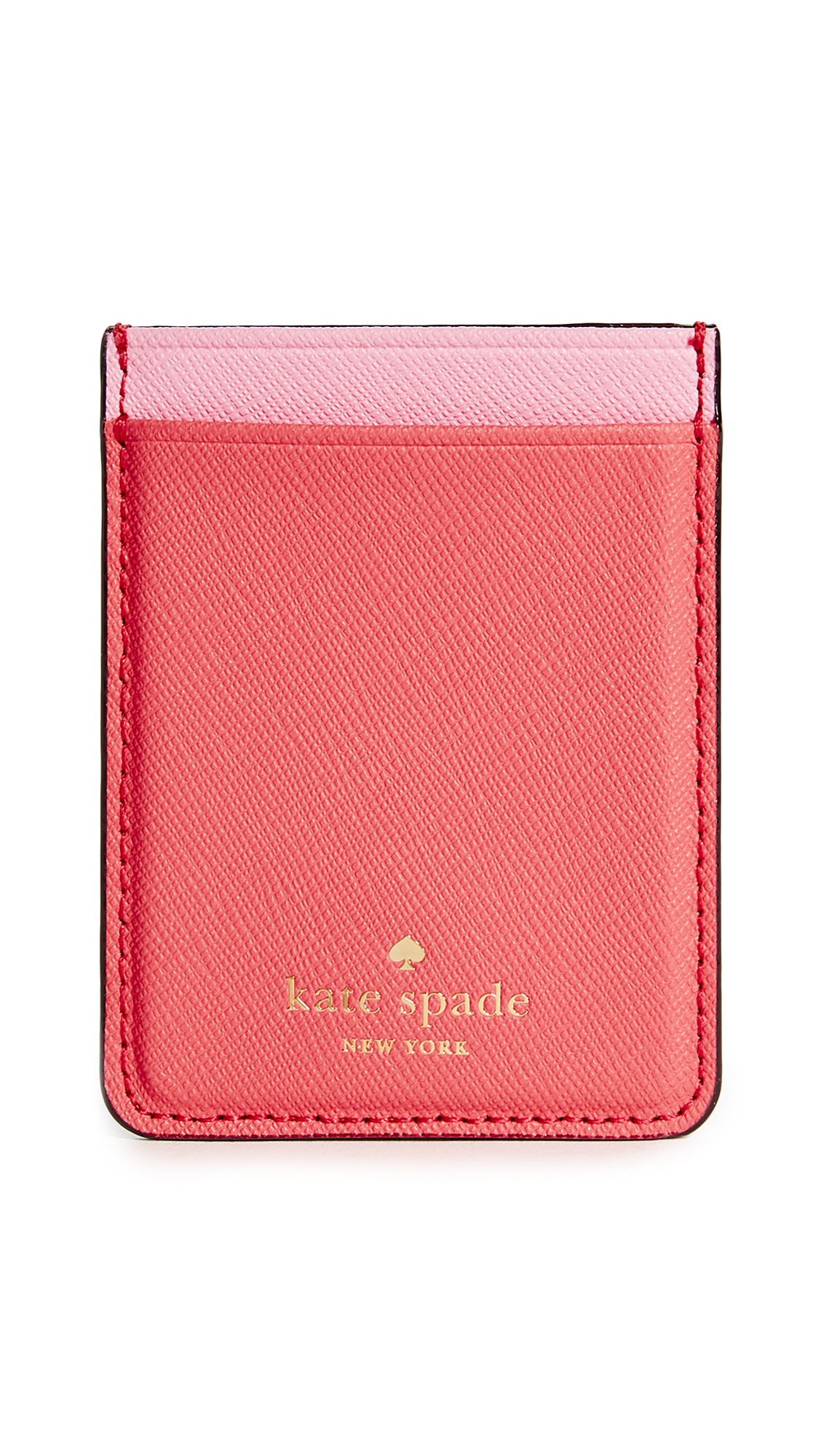 Kate Spade New York Double Sticker Phone Pocket - Flamingo Red Multi