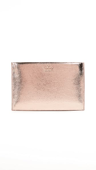 Kate Spade New York Highland Drive Mini Sima Clutch In Rose Gold