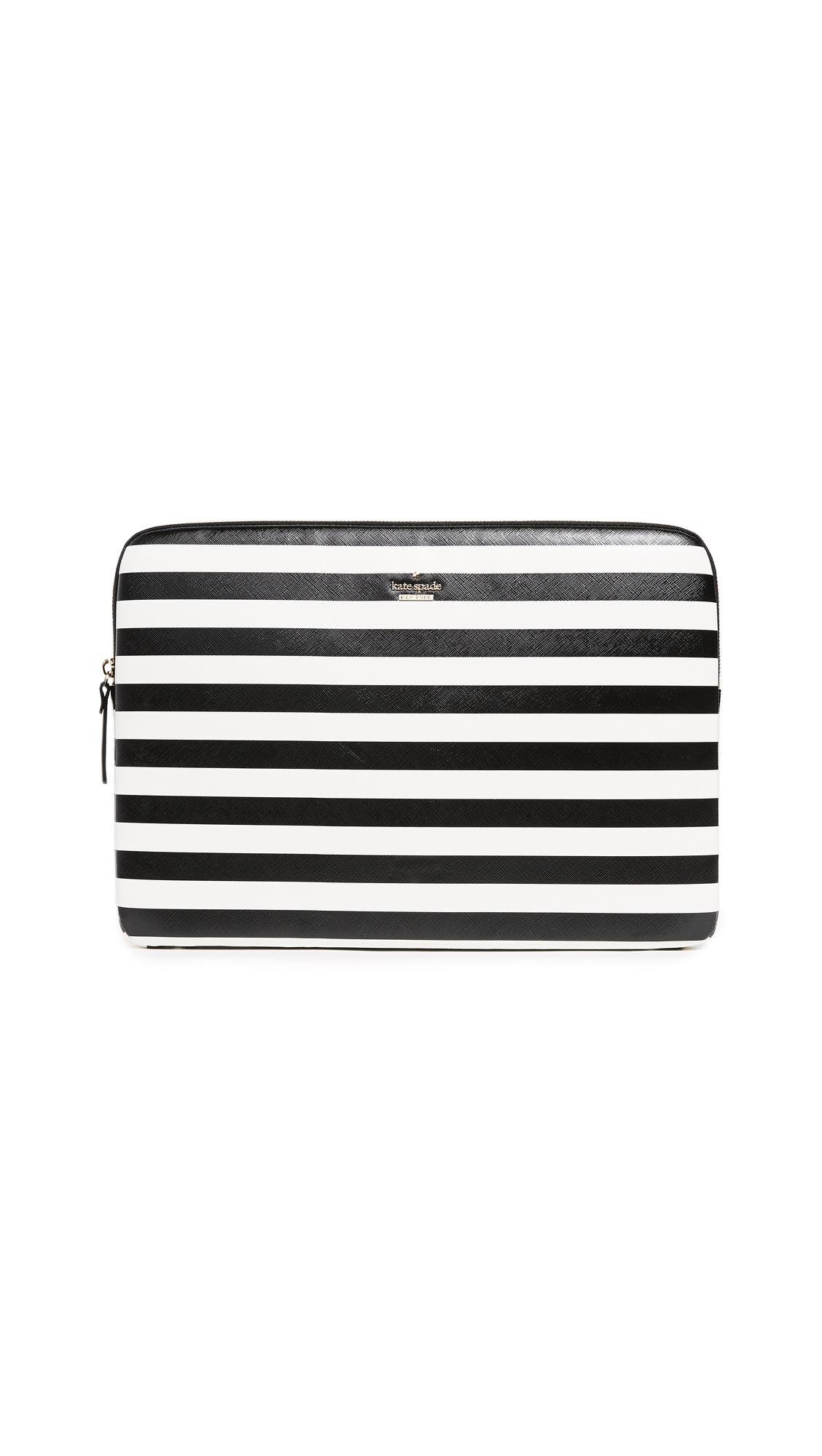 Kate Spade New York Laptop Sleeve - Black/Cream