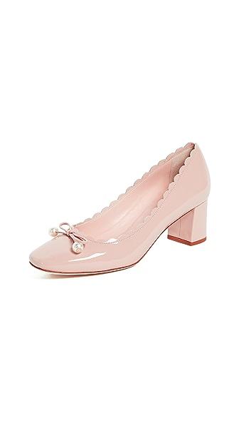 Kate Spade New York Danielle Block Heel Pumps In Pale Pink