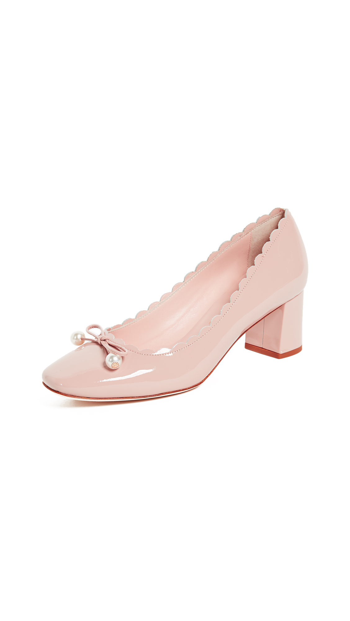 Kate Spade New York Danielle Block Heel Pumps - Pale Pink