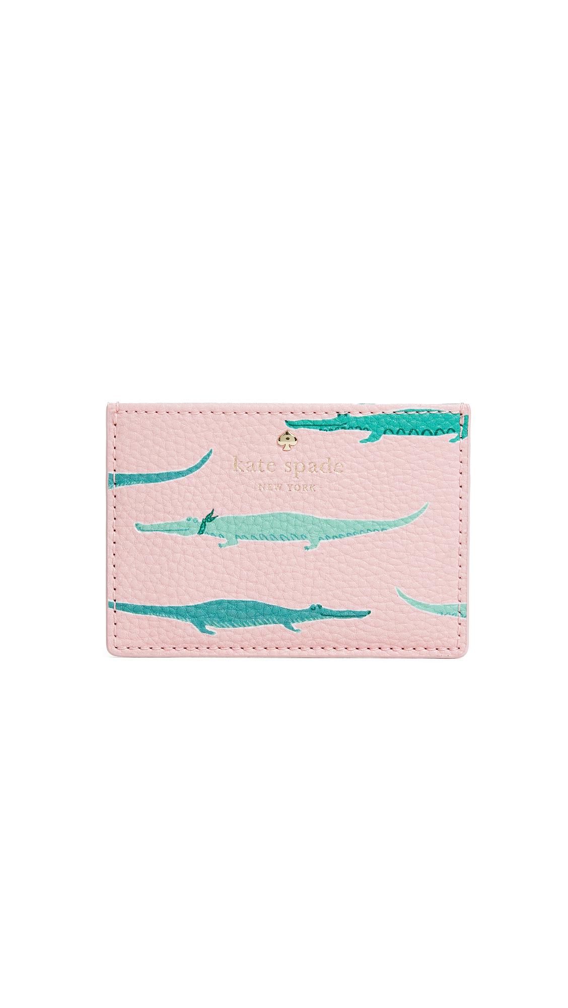 Kate Spade New York Swamped Card Holder - Pink Majolica