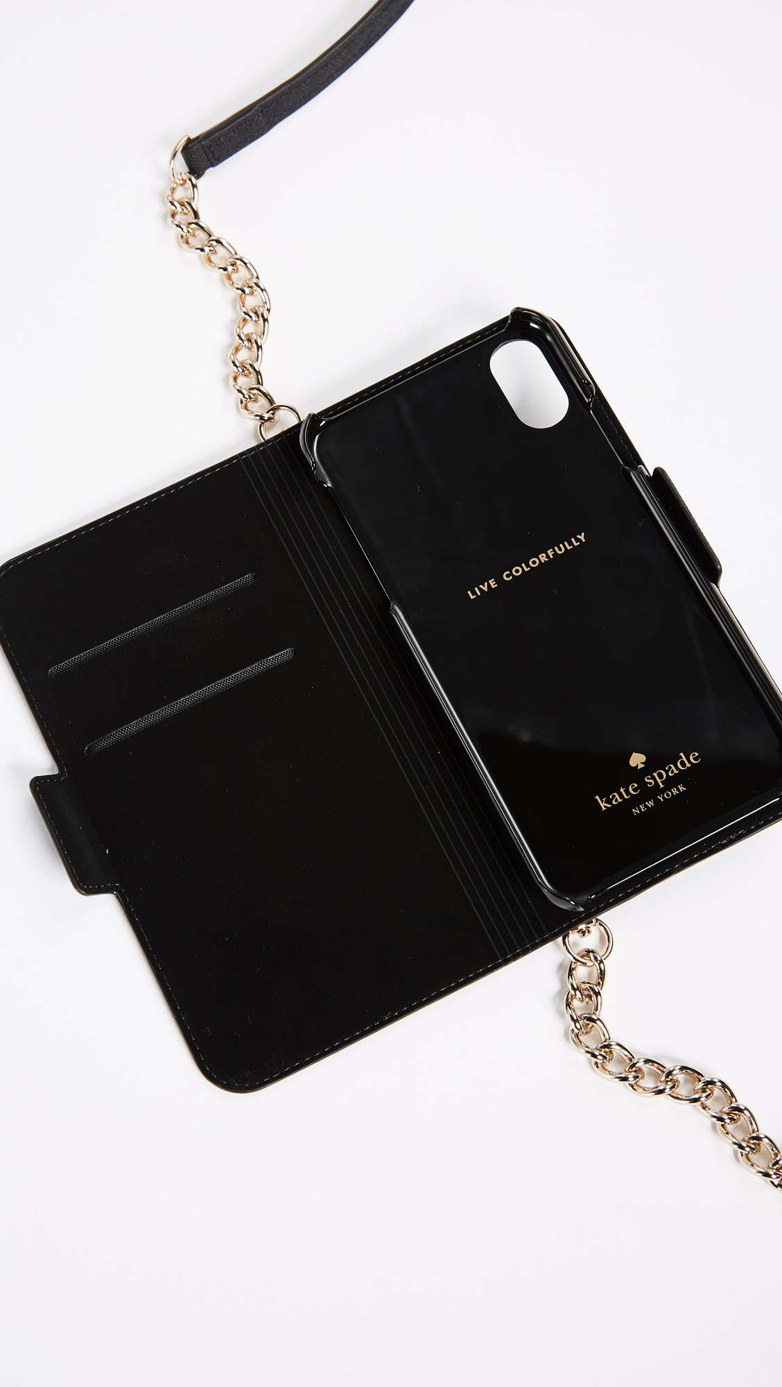 low priced 6699c 44a6f Kate Spade New York Folio Cross Body iPhone X Case | SHOPBOP