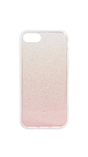 Kate Spade New York Pink Glitter Ombre iPhone 7 / 8 Case In Pink Glitter