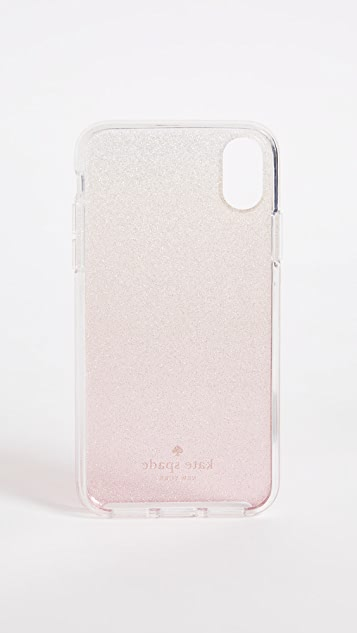 Kate Spade New York Pink Glitter Ombre iPhone X Case