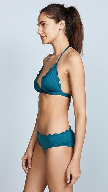 Kate Spade New York Scalloped Triangle Bikini Top