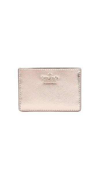 Kate Spade New York Highland Drive Card Holder In Soft Rose Gold