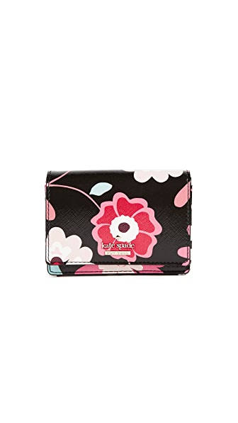 Kate Spade New York Cameron Street Casa Flora Beca Wallet In Black Multi