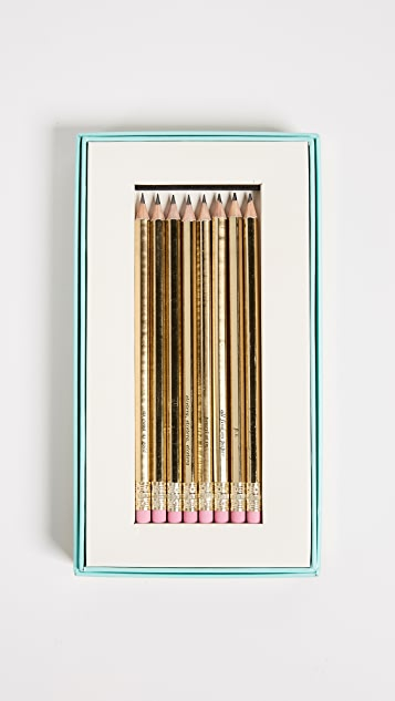 Kate Spade New York As Good As Gold Pencil Set