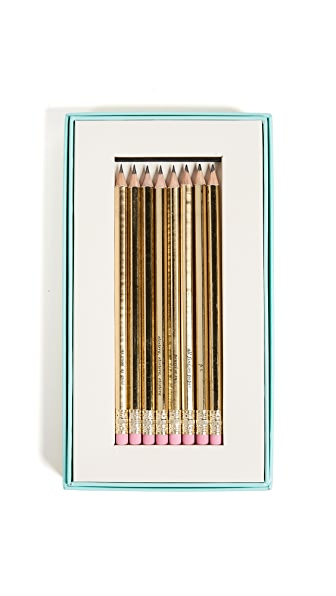 Kate Spade New York As Good As Gold Pencil Set In Gold