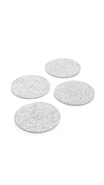 Kate Spade New York Tinsel Coaster Set In Silver