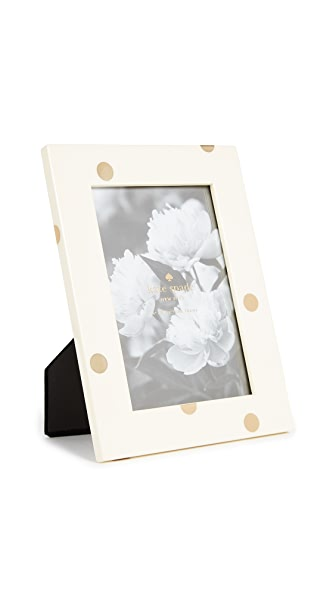 Kate Spade New York 4 x 6 Dots Picture Frame In Gold/White