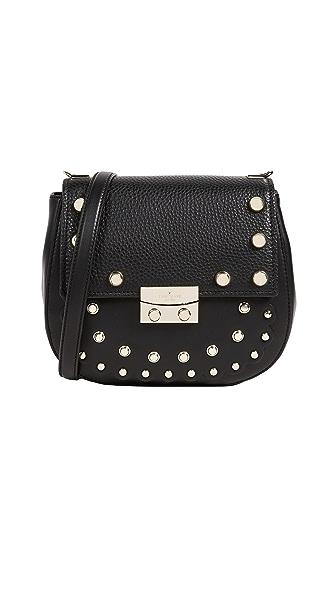 Kate Spade New York Madison Stewart Street Studded Byrdie Cross Body Bag In Black
