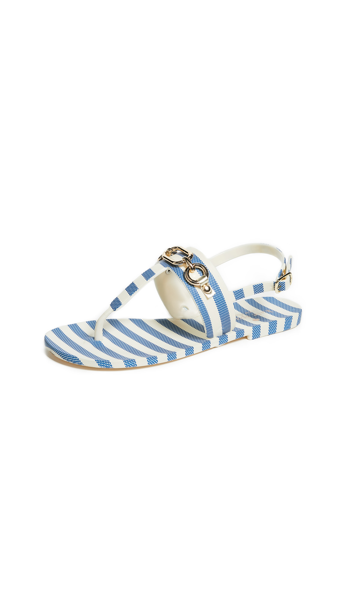 Kate Spade New York Polly Striped Sandals - Blue/Cream