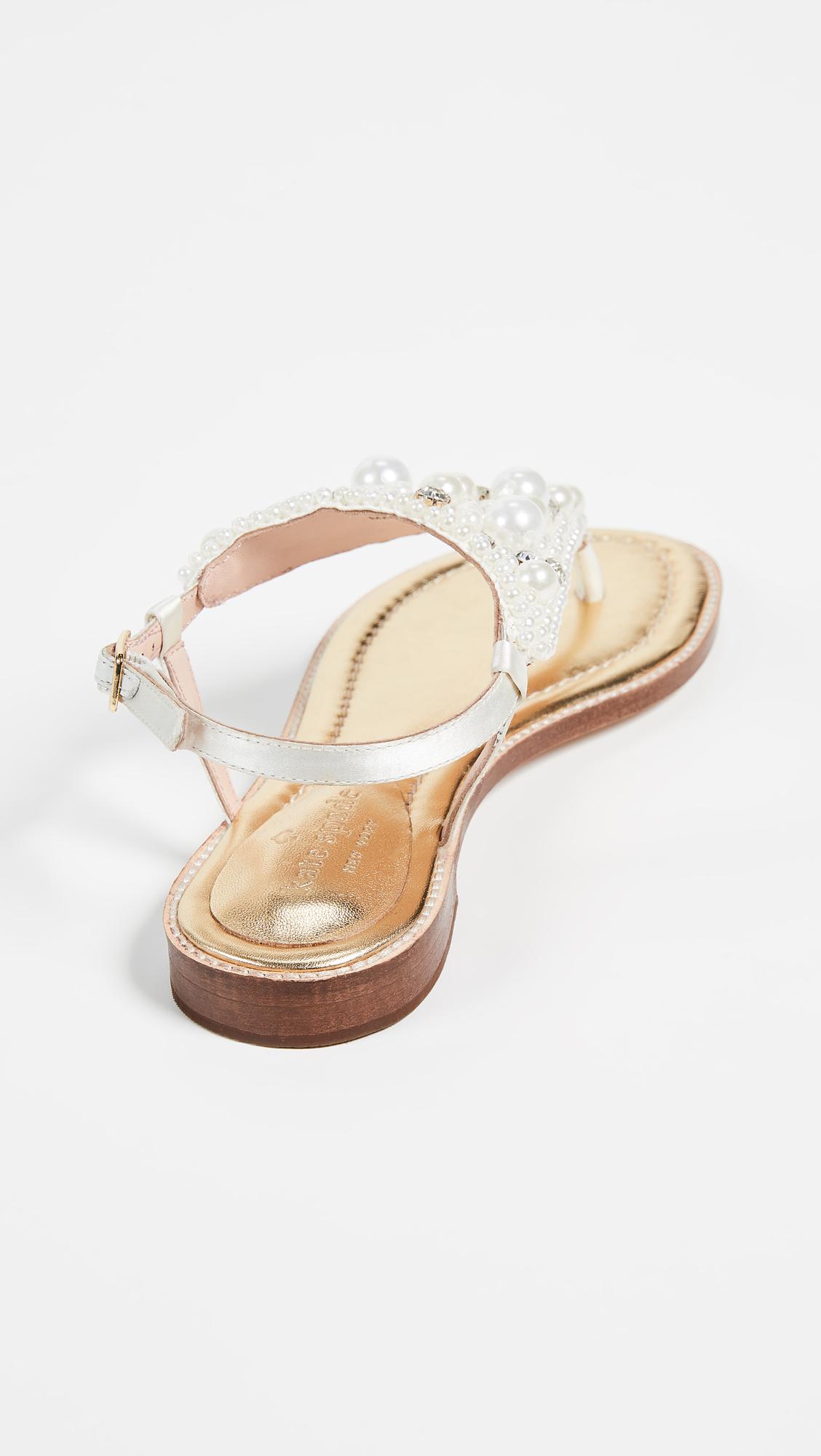 0908c2c4ccf9 Kate Spade New York Sama Imitation Pearl Sandals